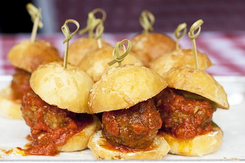 Mini meatball sandwiches | Event | Pinterest