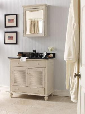 Cottage Bathroom Vanities on Vanity With A Cozy Cottage Look    Bathroom Ideas