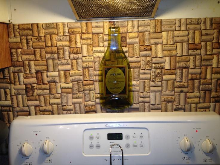 wine cork backsplash corks pinterest