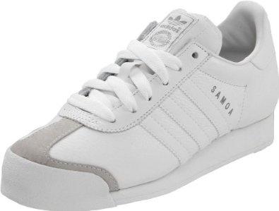 adidas Originals Men's Samoa Fashion Sneaker,White/Silver,10.5 D  adidas Orig