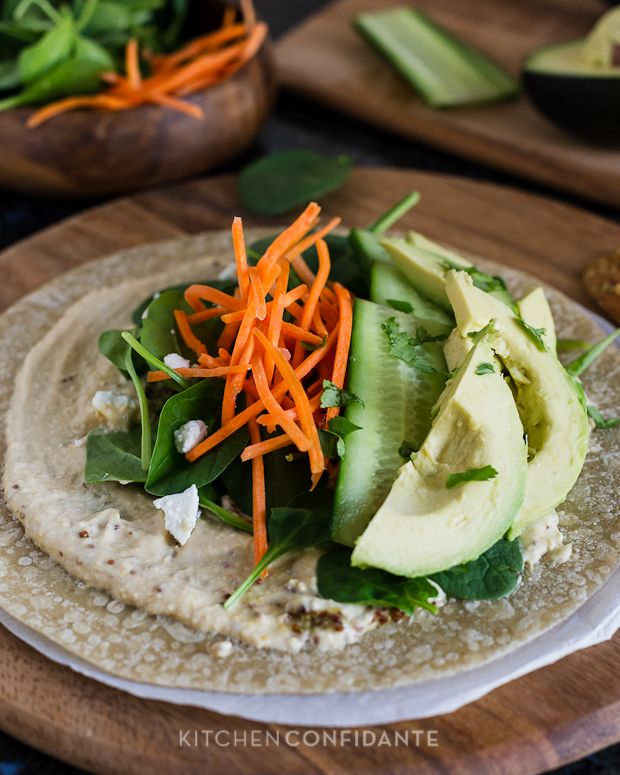 Veggie wraps: Go lighter on the mustard (or skip it altogether) and ...