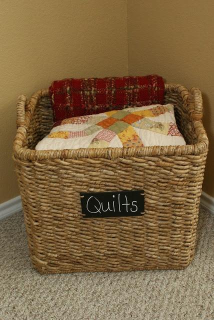 Love this idea for blanket storage desks organization for Comforter storage ideas