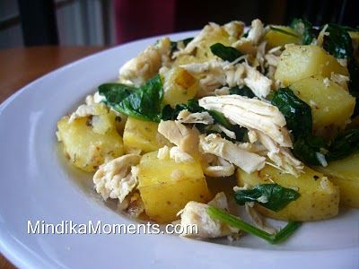 CHICKEN SPINACH AND POTATO HASH | Mmmm Recipes to Try! | Pinterest