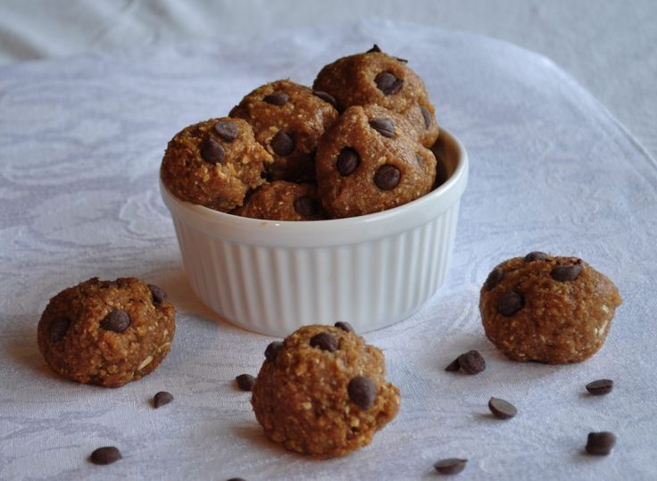 Healthy No Bake Cookie Dough Bites | Recipe