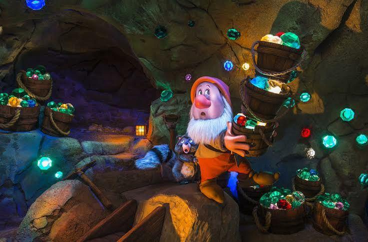 Jewels inside the Seven Dwarfs Mine Train ride