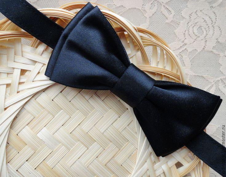 Как сделать детский галстук бабочку из атласной ленты своими руками