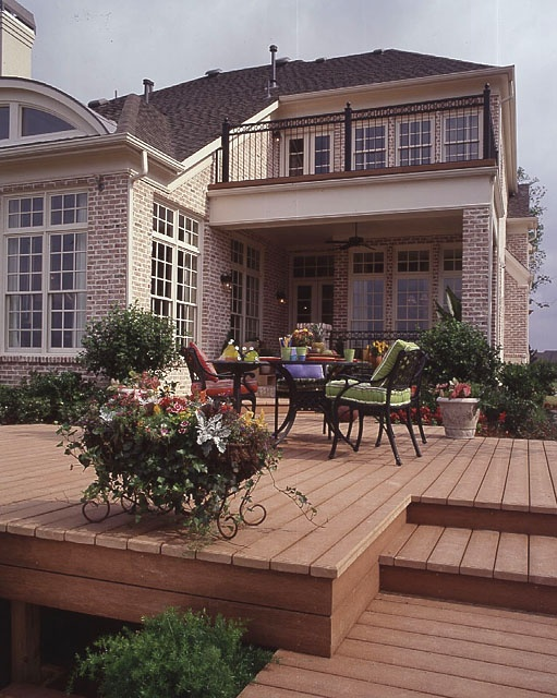Deck without railings outdoors pinterest for Southernlivinghouseplans com