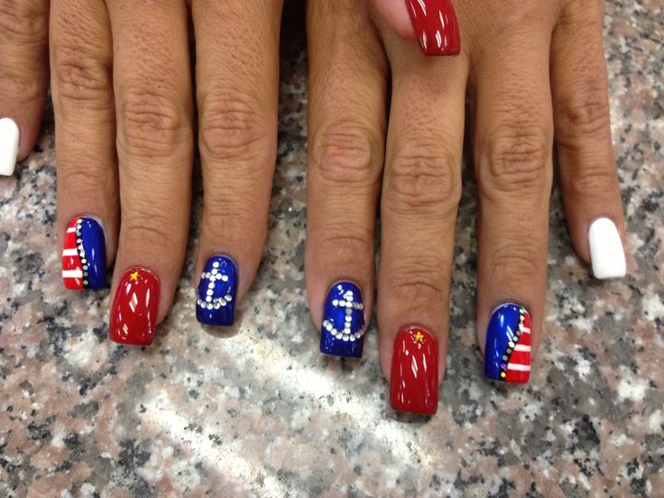 4th of july nails designs fireworks