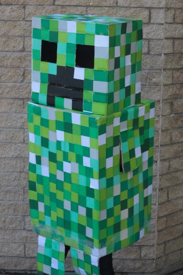 minecraft creeper valentine's day box