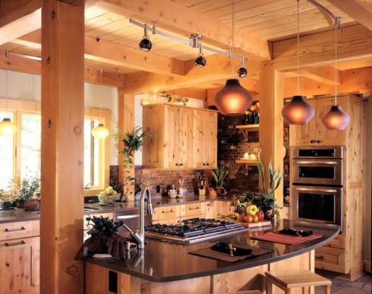 Timber Frame Home Kitchen Rustic Home Pinterest