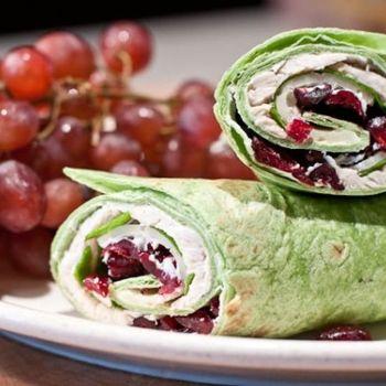 ... TRIP SNACK: Turkey Wrap Sandwich with grapes. #EsuranceDreamRoadTrip