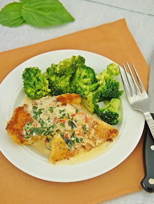 Chicken in Basil Cream Sauce | Food | Pinterest