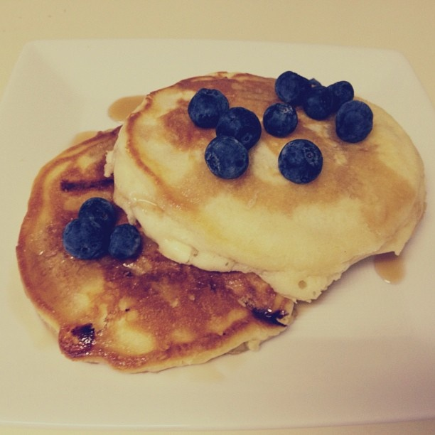 The Best Pancakes Ever #blueberries #breakfast #white chocolate #yummy ...