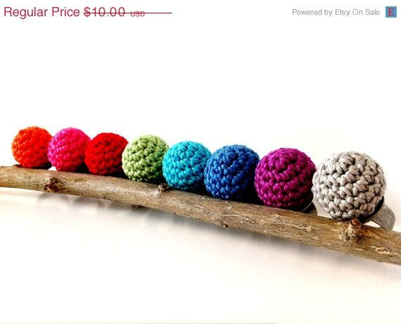 Birthday Sale Handmade Crochet Ring Unique gift idea by mialyne 750 Mother's Day Crochet Birthday Gift Ideas For Men