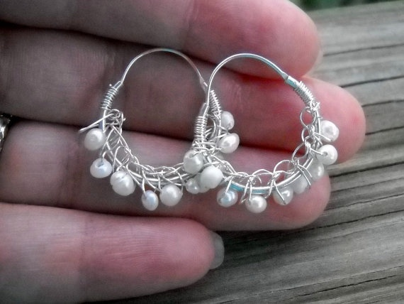 crocheted wire over hoops Crafts Pinterest