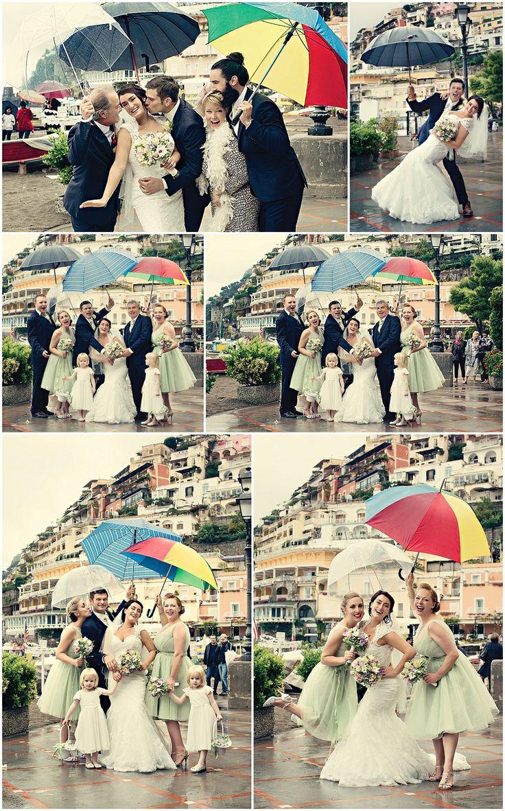 umbrella wedding photos