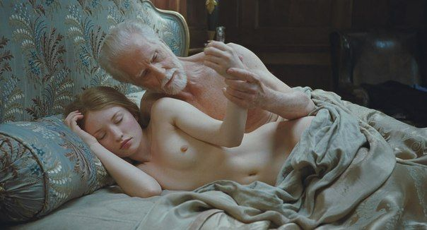 old man with young girl