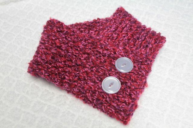Cowl Loom Knitting Pattern : Loom Knitted Cowl - KNITTING Wonderful Crochet Pinterest