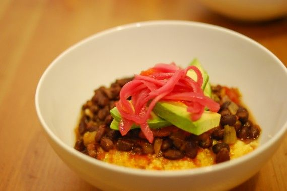 Polenta and beans | Whole foods, Plant based | Pinterest