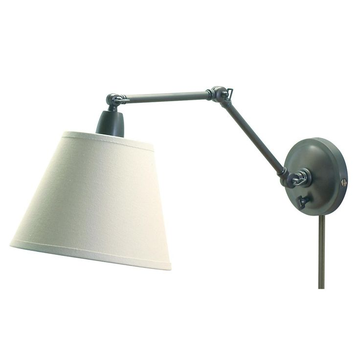 First Edition Adjustable Arm Reading Wall Lamp Available in 2 Colors:?