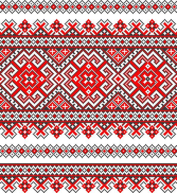 Ukrainian cross stitch pattern embroidery