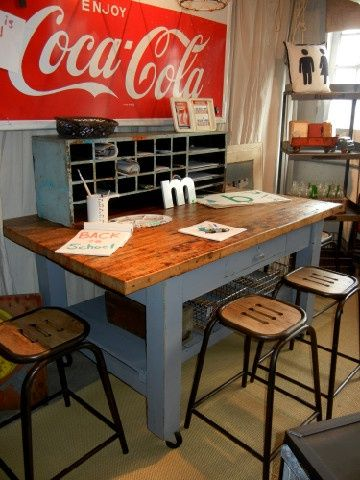 Craft island table kitchen island or perfect work craft table