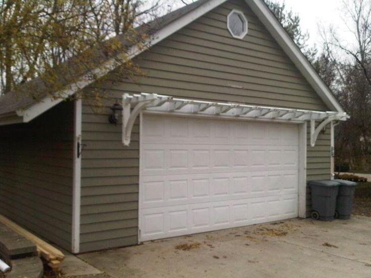 Garage Trellis Garden Pinterest