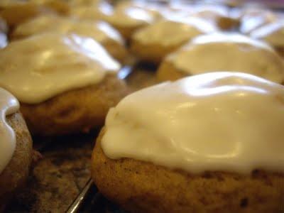 Iced Pumpkin Cookies   Sweets   Pinterest
