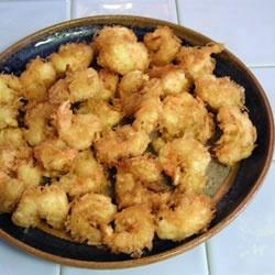 Shrimp in coconut beer batter : http://allrecipes.com/recipe/coconut ...
