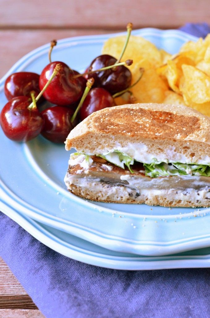 Cayenne Portobello Burgers with Herbed Goat Cheese Spread ...