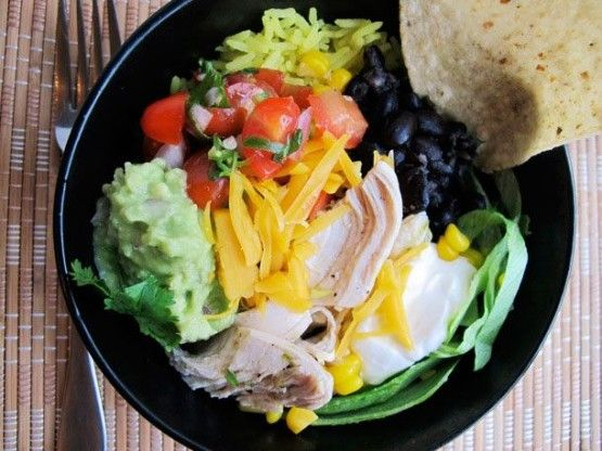 The Ultimate Chicken Burrito Bowl | Food | Pinterest