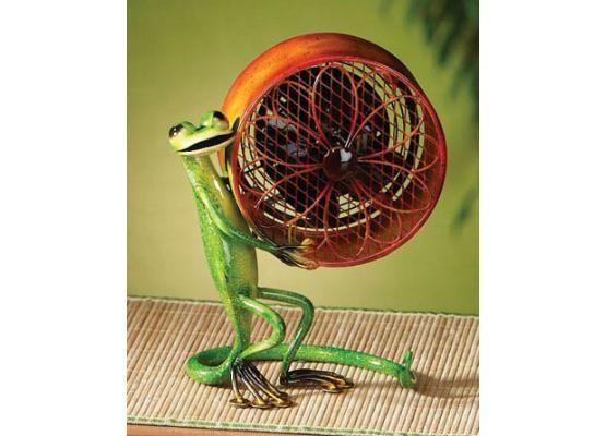 Deco Breeze Mini Gecko Decorative Figurine Electric Table Fan DBF0256 ...