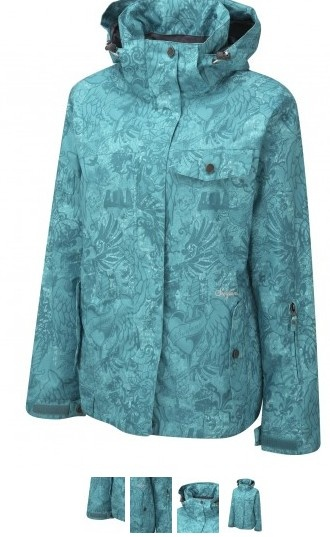 Surfanic Womens The Ennis Collection Diva Jacket Turquoise