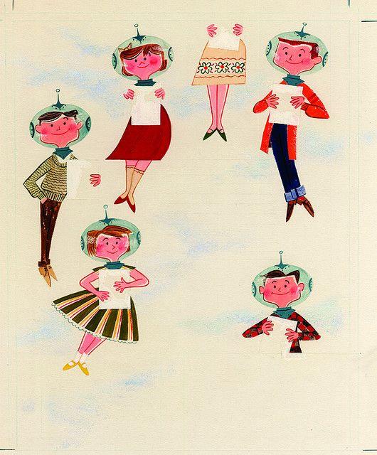 """Blast Off with Walt Disney Magazine"" Illustration, 1959"