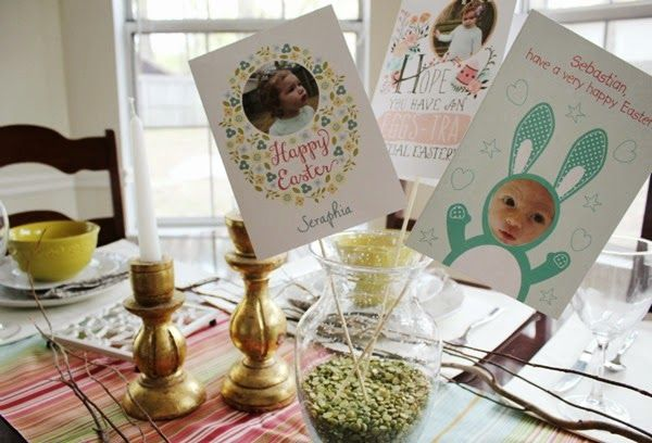 Creatively display your Easter cards.