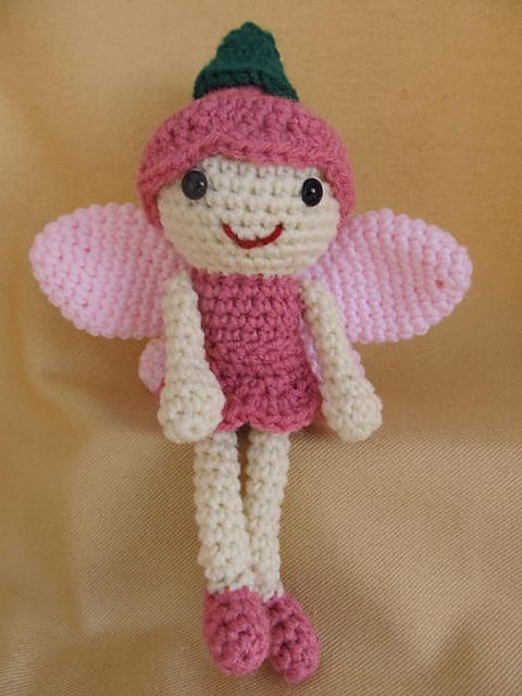 Amigurumi Fairy Free Pattern : Sprout the Fairy Amigurumi Crochet Pattern pattern by Deb ...