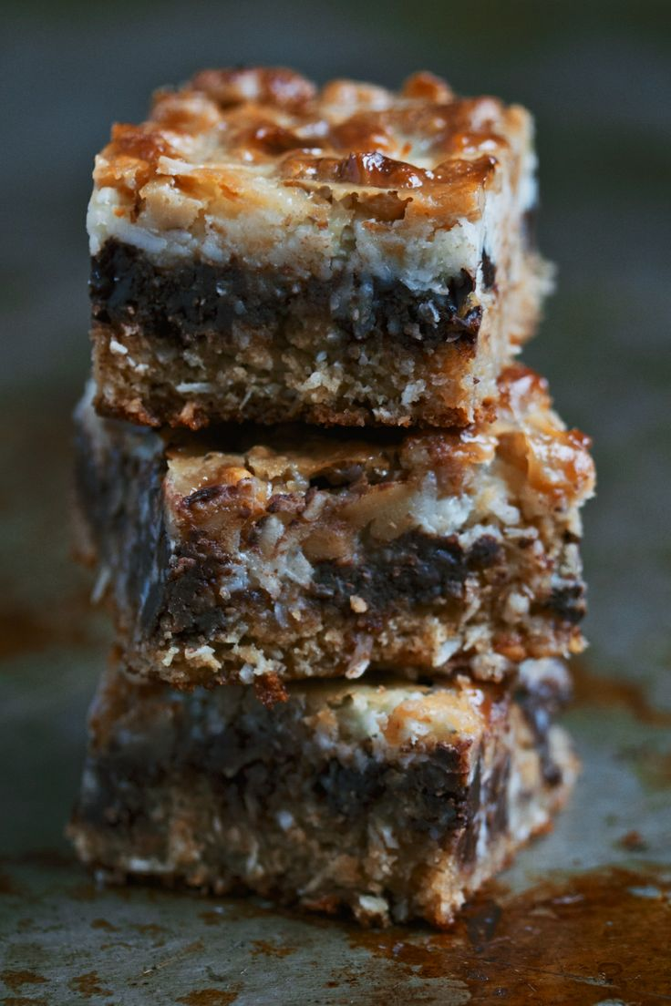 chewy gooey layer bars   movita beaucoup   Recipes   Pinterest