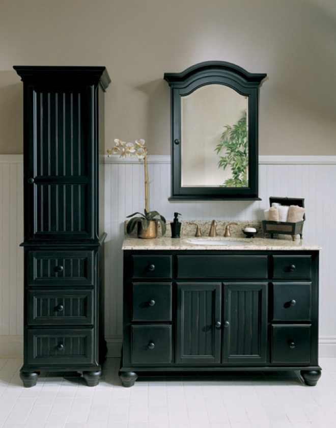 black vanity set bathroom