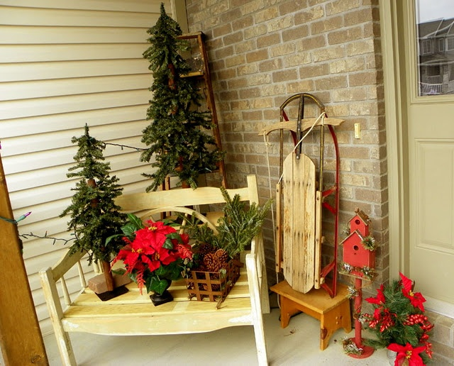 My christmas front porch projects from for Decorating a small front porch for christmas