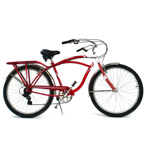 This is my Schwinn Beach Cruiser bicycle. I can't wait for summer to