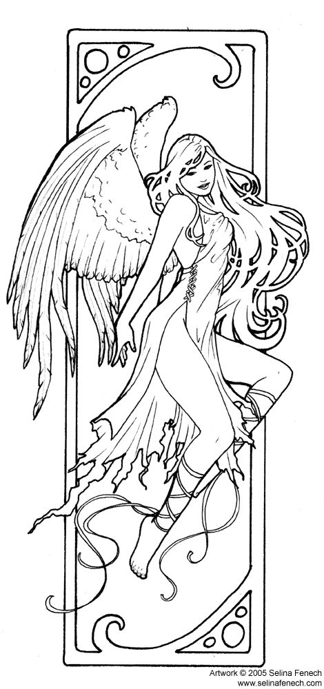 advanced fairy coloring pages - photo#14
