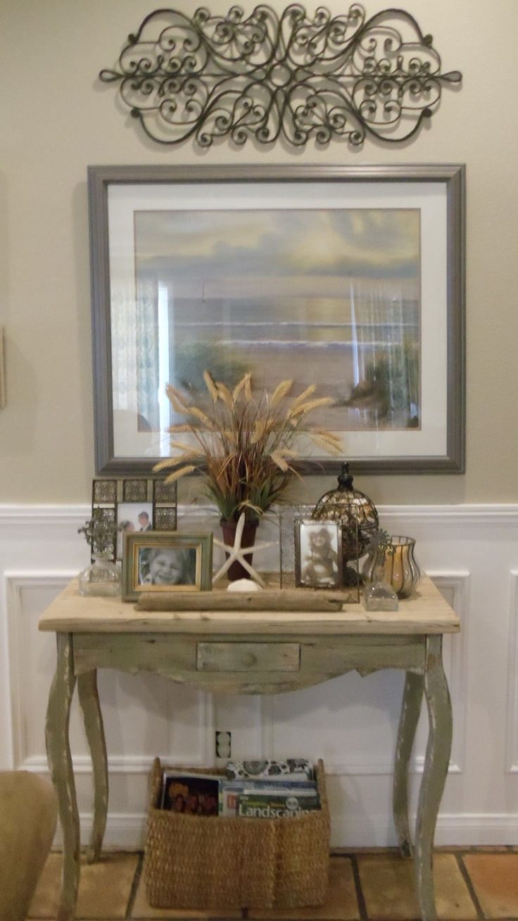 Beach cottage country decor table country deco pinterest Cottage home decor pinterest
