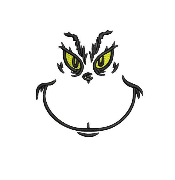 Grinch Embroidery Design in 4 Sizes - INSTANT DOWNLOAD