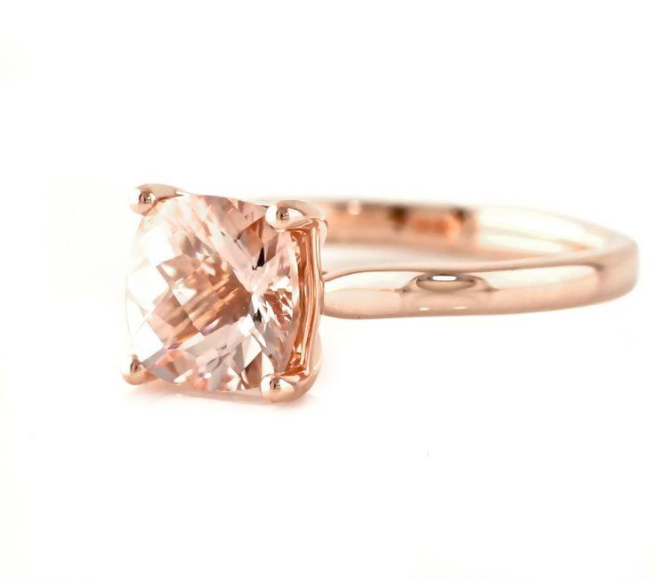 rose gold ring rose gold rings morganite