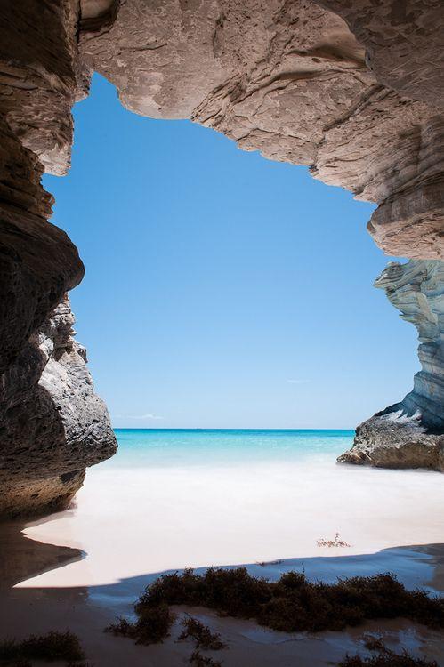 Cave at Lighthouse Beach, Bahamas