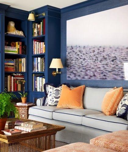 Navy Blue Cozy Room -10 Bold Paint Ideas.