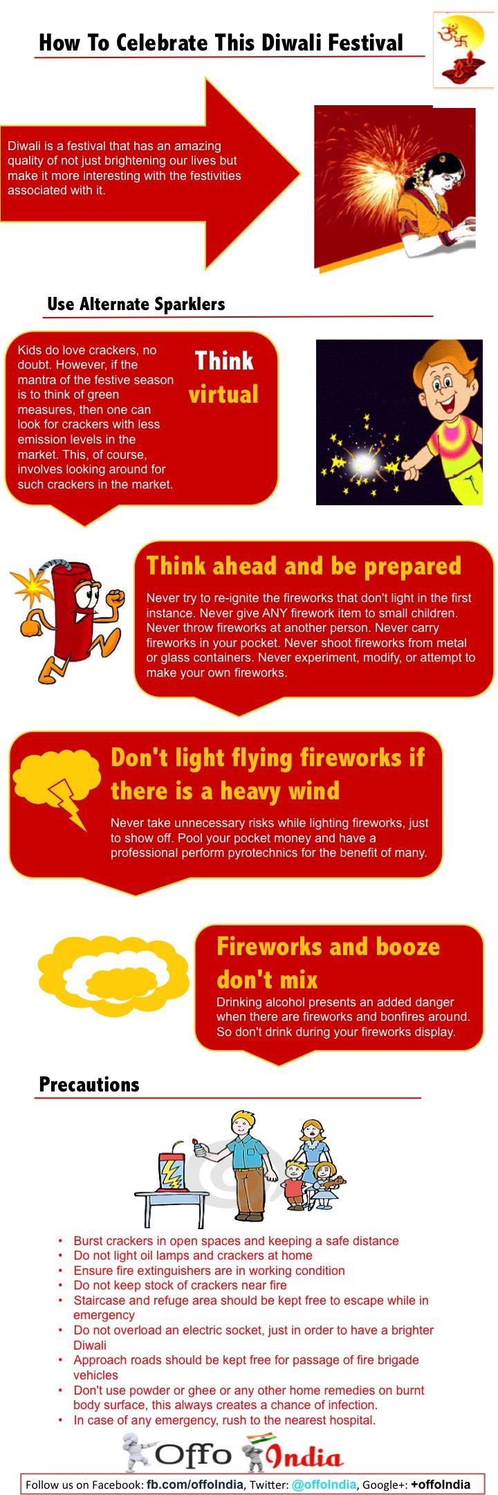 Safety precautions during Diwali