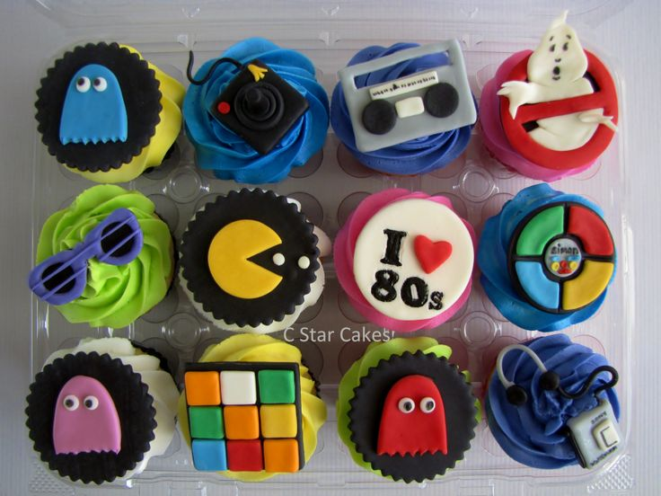 80s cupcakes cake ideas and designs for 80s cake decoration ideas