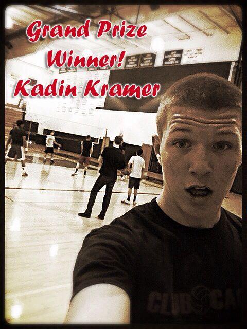 The USA Volleyball Pin It to Win It grand prize winner, Kadin Kramer!