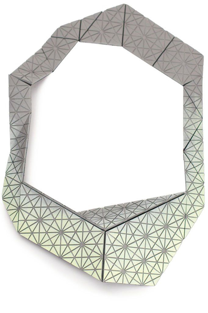 Karin Maisch - Fachhochschule Düsseldorf, Germany - necklace, Kaleidoscope, the folded one, 2013, rubber, fabric, steel, magnet, paint